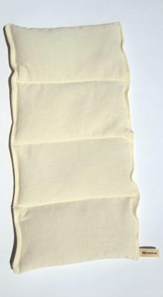 Bouillotte en coton bio cousue en 4 compartiments